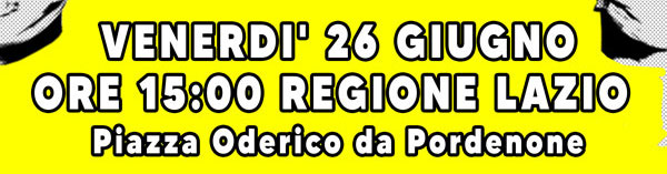 26 giu 2020 LA SALUTE NON E' UNA MERCE: PRESIDIO ALLA REGIONE LAZIO ORE 15:00