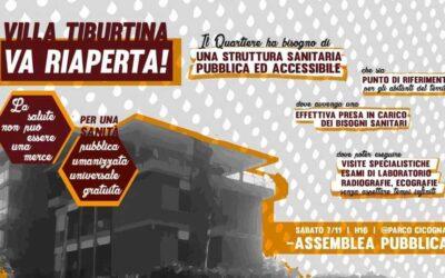 7 nov 2020 ASSEMBLEA Villa Tiburtina Va Riaperta!