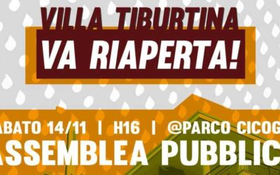 14 nov 2020 Assemblea Riapriamo Villa Tiburtina / 2
