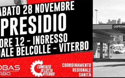 28 nov 2020 Viterbo: Presidio Ospedale Belcolle