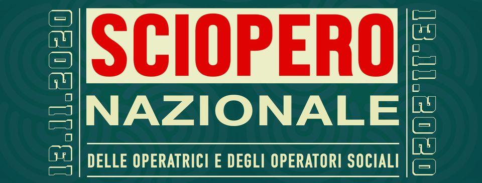 13 nov 2020 Sciopero Operatrici e Operatori Sociali
