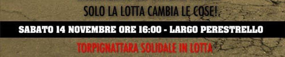 14 nov 2020 Torpignattara Solidale in Lotta