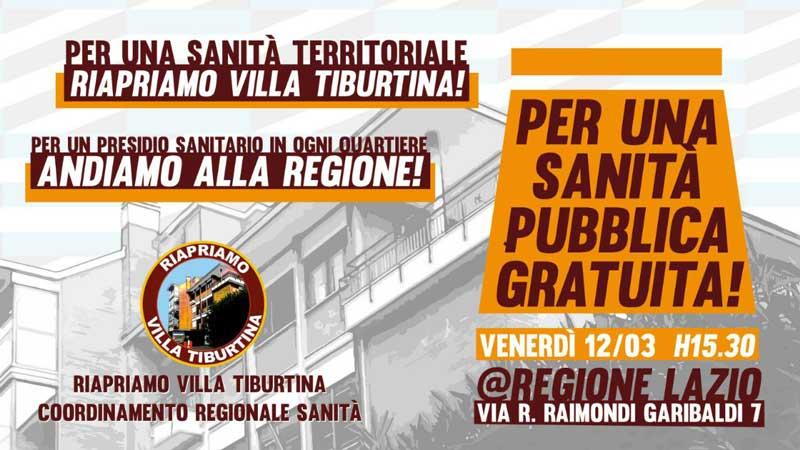12 marzo 2021 Presidio Alla Regione Lazio