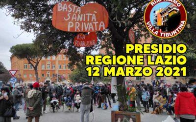 12 mar 2021 Esito Presidio Regione Lazio