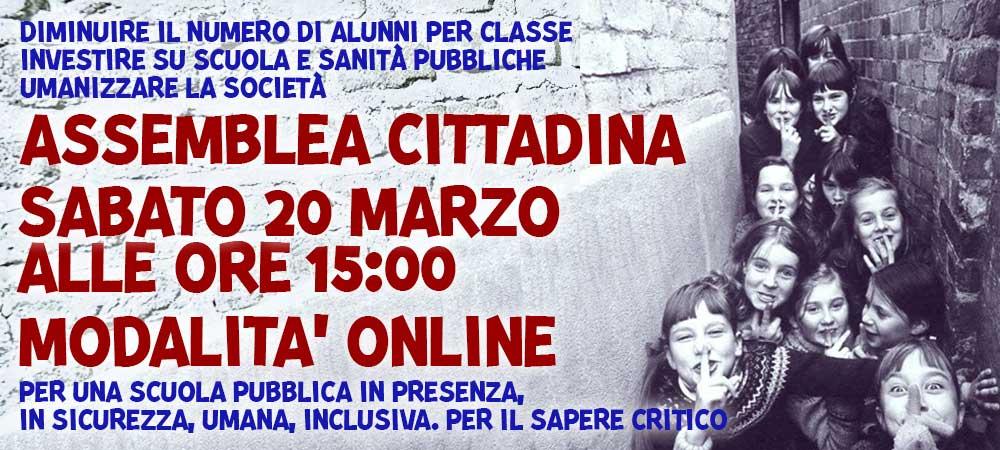 20 mar 2020 ASSEMBLEA CITTADINA SCUOLA E SANITÀ PUBBLICHE