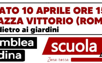 10 apr 2021 Scuola Zona Rossa: Assemblea Piazza Vittorio