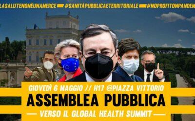 6 mag 2021 – Assemblea Contro il Global Health Summit di Roma